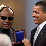 Barack Obama en Stevie Wonder