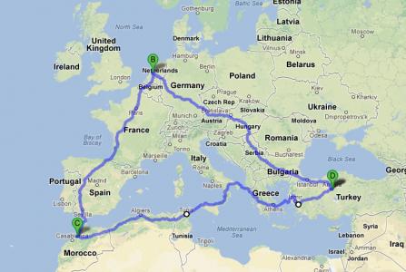 10.000 km met de auto van Amsterdam naar Rabat naar Ankara