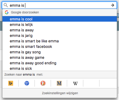 google - emma is