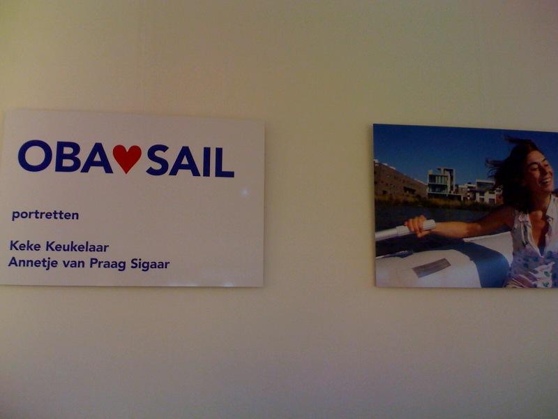 Keke Keukelaar voor OBA Sail