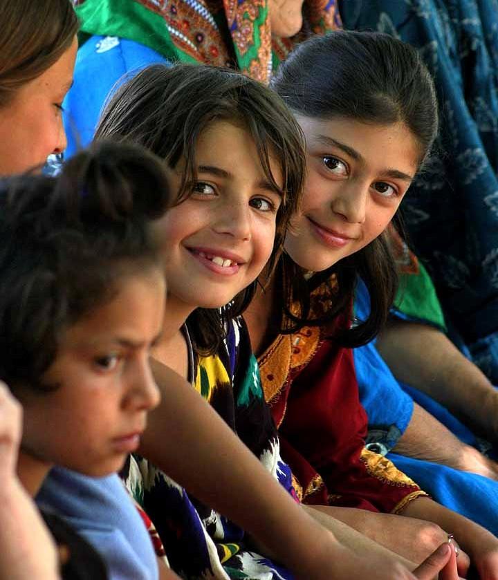 Kinderen in Tadzjikistan (Steve Evans)