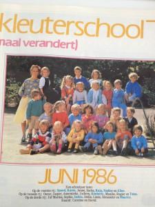 Kleuterschool Blaricum in 1985 en 1986 in tijdschrift Kinderen