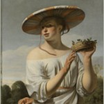 Meisje met brede hoed