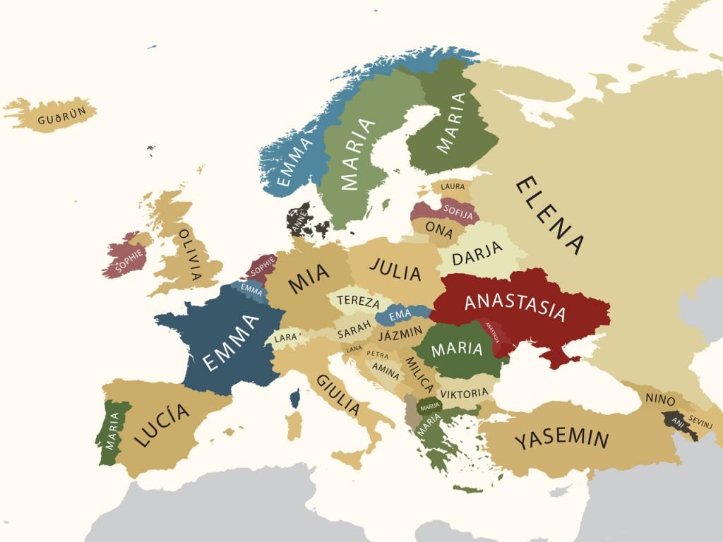 meisjesnamen europa