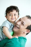 Najib Amhali met zoon Noah