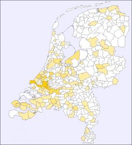 Verspreiding van de achternaam Willemstein in Nederland