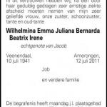 Wilhelmina Emma Juliana Bernarda Beatrix Irene